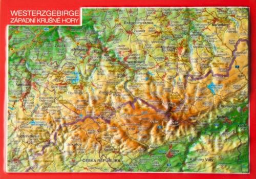 3D Reliefpostkarte Westerzgebirge